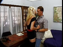 Hot Blonde Mature Emerson Office Bang